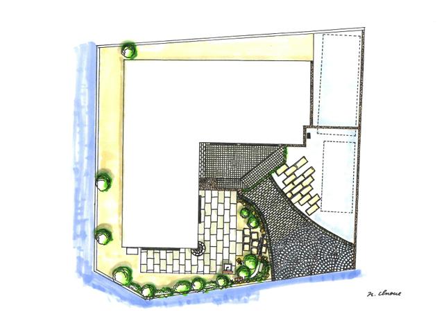 上から見た家のイラスト
